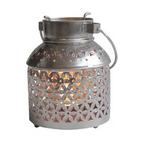 Floral Netted Metal Candle Holder: Handcrafted