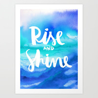 Rise & Shine [Collaboration with Jacqueline Maldonado] Art Print by Galaxy Eyes
