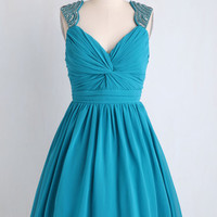 Sleeveless Fit & Flare Jewel Be in My Heart Dress