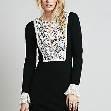 Free People Womens Wednesday Bib Dress