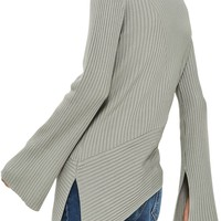 TOPSHOP | Asymmetrical Ribbed Sweater | Nordstrom Rack