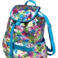 Large Sequin Paint Splatter Rucksack | Girls Totes & Duffles Bags & Totes | Shop Justice
