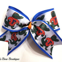 Large Gators UF Cheer Bow
