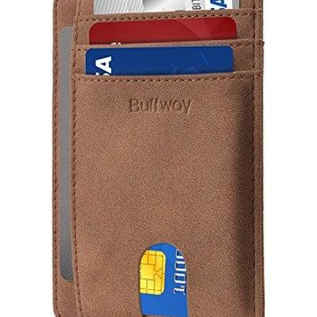 Slim Minimalist Front Pocket RFID Blocking Leather Wallets for Men amp Women