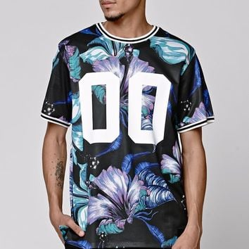 On The Byas Koa Hawaiian Mesh Crew T-Shirt - Mens Tee - Black