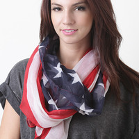Timeless Patriotic Scarf