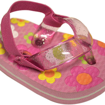 true ziggles pink flip flop baby crib shoe Case of 12