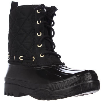 Sperry Top-Sider Gosling Quilted Outdoor Mid Ankle Boots - Black