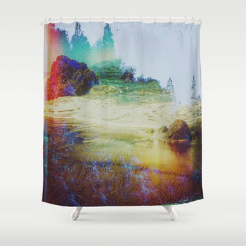Both Worlds Shower Curtain by DuckyB (Brandi)