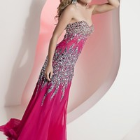 Jasz Couture 4823 Strapless Beaded Dress