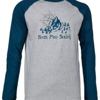 Bass Pro Shops Compass Rose Raglan Long-Sleeve T-Shirt for Men | Bass Pro Shops