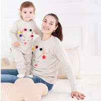Family Matching Clothes Cartoon Bear Outfits-Christmas Swearer