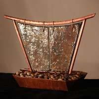 Phoenix Copper and Slate Tabletop Fountain