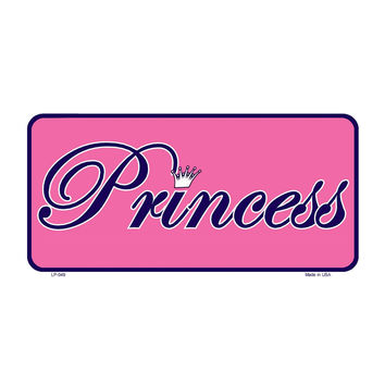 Smart Blonde Pink Princess Tiera Novelty Vanity Metal License Plate Tag Sign