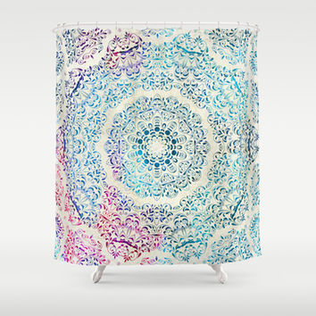 Watercolor Mandala Shower Curtain by Octavia Soldani
