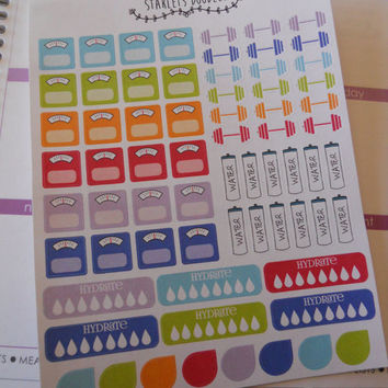 Fitness Planner Sticker Kit. Perfect for your Erin Condren Life Planner or Plum Paper Planner.