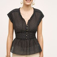 HD in Paris Merce Peplum Blouse in Black & White Size: