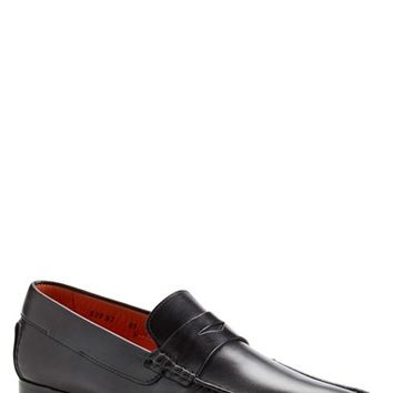 Men's Santoni 'Turner' Leather Penny Loafer,
