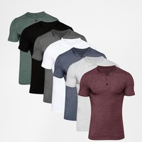 ASOS Extreme Muscle Jersey Polo 7 Pack Save 29%