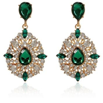Casual Extravagant Rhinestone Water Drop Earring