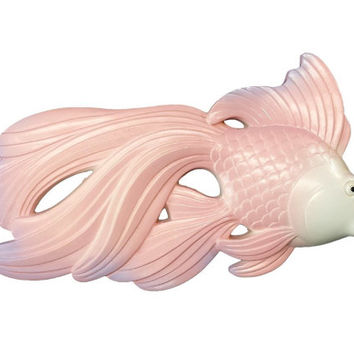 Vintage Chalkware Fish Wall Decor, Pink & Purple, Miller Studio, Betta Fish,  Kitschy Bathroom, Wall Plaque, Kitsch Home, Chalk Ware