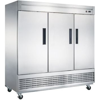 Commercial Kitchen 3 Door Reach-In Refrigerator 83""