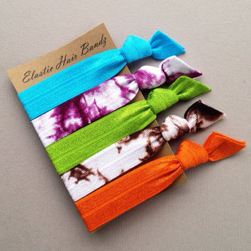 The Sage Hair Tie-Ponytail Holder Collection - 5 Elastic Hair Ties by Elastic Hair Bandz on Etsy