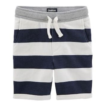 DCCKX8J Toddler Boy OshKosh B'gosh® Striped Slouch Knit Shorts | null