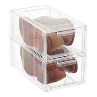 Clear Stackable Men's & Athletic Shoe Drawer