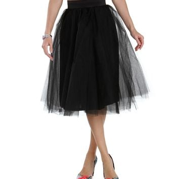 Black Tulle Darling Party Skirt