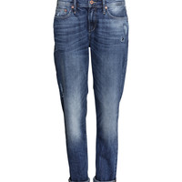 H&M - Boyfriend Low Jeans - Dark denim blue - Ladies
