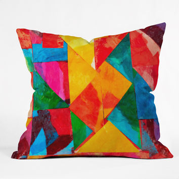 Fresh Artists Brilliant Stained Glass Throw Pillow