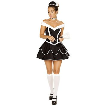 Sexy Memento Naughty Maid Dress with Accessories