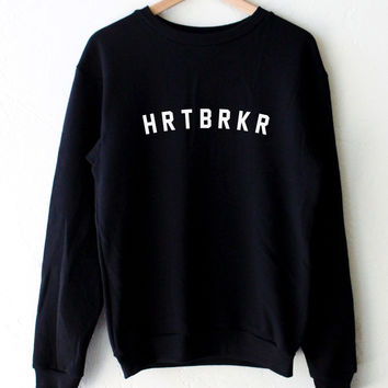 HRTBRKR Oversized Sweatshirt - Black