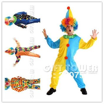 2017 kids clown costumes cosplay costumes for boys halloween cosplay costumes for kids children cosplay costumes free shipping
