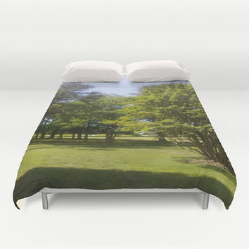 Trees Duvet Cover Nature Duvet Cover National Park Duvet Cover Green Duvet Cover Bedding Decor Environment Duvet Cover Nature Lover Ecolover
