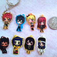 Fairy Tail Chibi Charm Keychains or Phone Charms