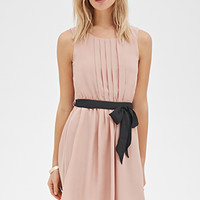 Pintucked Fit & Flare Dress