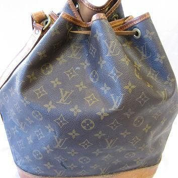 Tagre™ Authentic Vintage Louis Vuitton Monogram Canvas Drawstring Bucket Bag