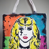 KeSha- WARRIOR Pop Art Tote Bag