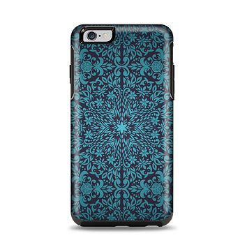 The Teal Floral Mirrored Pattern Apple iPhone 6 Plus Otterbox Symmetry Case Skin Set
