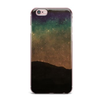 "Sylvia Coomes ""Star Light"" Teal Brown iPhone Case"