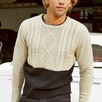 Fisherman'S Two-Tone Sweater