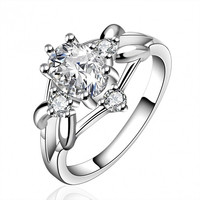 R641-B Silver Plated New Design Finger Ring For Lady