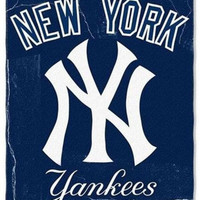MLB New York Yankees 50x60 Mark Series Fleece Throw