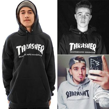 Hoodies Winter Hip-hop Print Pullover Tops Hats [10836134215]