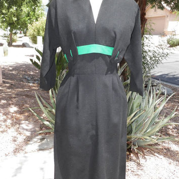 Vintage Dress. DOROTHY OHARA. Cocktail. Wiggle. Madmen. Mad Men. 40s. 50s. Old Hollywood. Size Small. Office