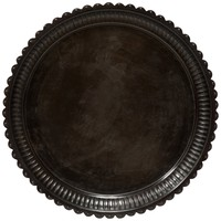 Scalloped Metal Tray