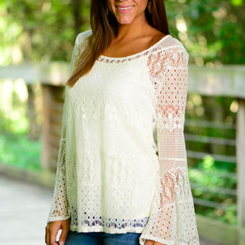 Walk With Me Top, White
