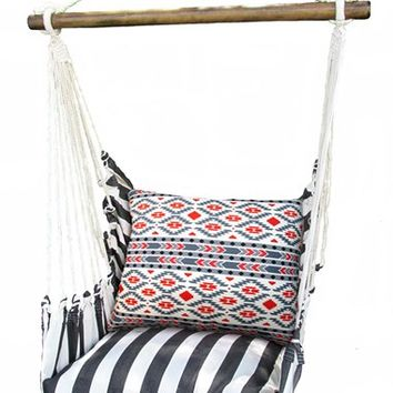 Magnolia Casual Black Stripe Swing Chair